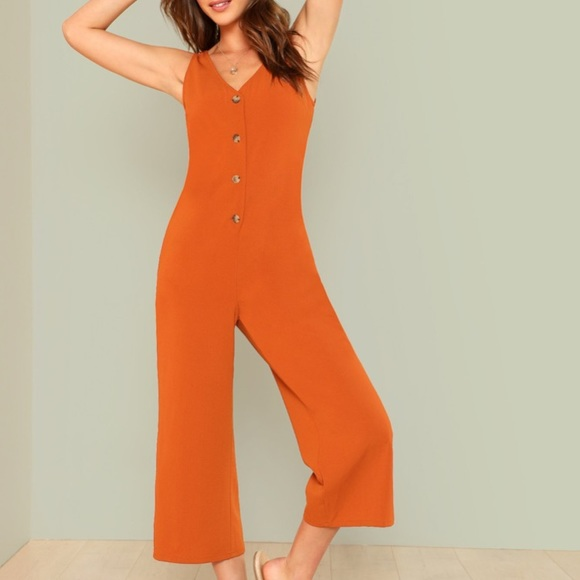 first look wholesale dealer search for original Gorgeous rust colored jumpsuit!